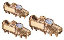 GOLD 3D FREE STANDING FOOTBALL BOOT